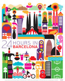 Barcelona Poster by Fernando Volken Togni