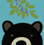 Peek-a-Boo Bear Poster by Yuko Lau