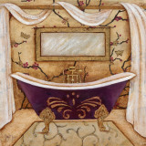 Purple Passion Bath I Prints
