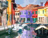 Burano Village Poster by Shelley Lake
