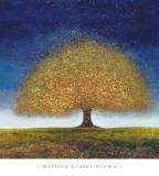 Dreaming Tree Blue Plakat av Melissa Graves-Brown