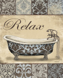 Relax Bath Print by Todd Williams