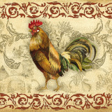 Toile Rooster I Poster by Gregory Gorham