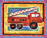 Fire Engine Poster by Alison Jerry
