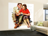 """Helping with Homework,"" May 25, 1940 Wall Mural – Large by Frances Tipton Hunter"