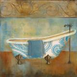 Paisley Bath I Poster by Carol Robinson