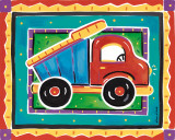 Dump Truck Prints by Alison Jerry