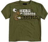 Toddler: Here Comes Trouble T-Shirt