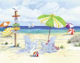 Beachside Chairs Prints by Paul Brent