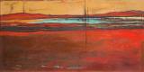 Red Horizon I Kunstdrucke von Patricia Quintero-Pinto