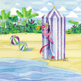 Cabana Flamingo Prints by Paul Brent