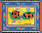 Ladybugs Print by Alison Jerry