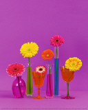 Pop Flowers Print by Camille Soulayrol