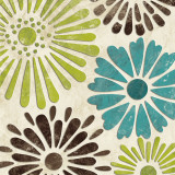 Stencil Flowers I Posters by N. Harbick