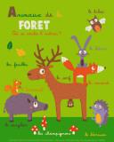 Animales del bosque Lámina por Isabelle Jacque