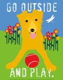 Go Outside and Play Art by Ginger Oliphant