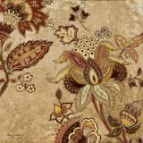European Floral on Beige II Posters by Lanie Loreth