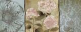 Pink Hydrangeas Panel II Posters by Elizabeth Medley