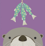 Peek-a-Boo Otter Poster by Yuko Lau