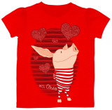 Toddler: Olivia - Red Stripes T-shirts