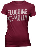 Juniors: Flogging Molly - Girls Star Logo Shirt