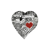 Amor em 44 línguas Impressão giclée