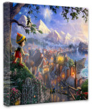 Pinocchio Wishes Upon A Star (Wrapped Canvas) Stretched Canvas Print by Thomas Kinkade
