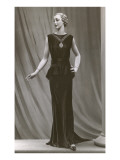 Twenties Mannequin in Black Sleeveless Dress Póster