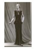 Twenties Mannequin in Black Sleeveless Dress Print