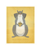 The Relentless Squirrel Giclee Print by John Golden