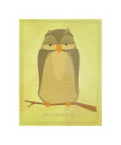The Sensible Owl Giclee Print by John Golden