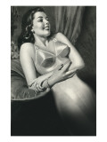 Woman in Old Fashioined Underwear Poster