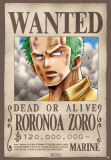 One Piece -Wanted Zoro-One Sheet Obrazy