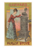 Victorian Lady with Parlor Stove Photo