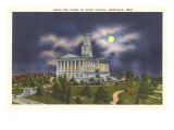 Moon over State Capitol, Nashville, Tennessee Prints