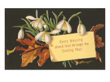 Every Blessing, Victorian Snowdrops Posters