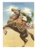 Queen of the Rancho, Charra on Horse Kunstdruck
