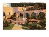 Patio, Governor's Palace, San Antonio, Texas Print