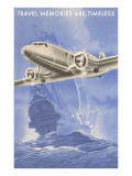 Travel Memories are Timeless, Airplane and Galleon Prints