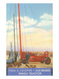 Winch Tractor Advertisement Posters