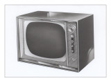 Square Television Set Art