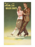 Roller Skating Couple Posters