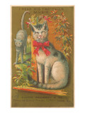Victorian Cats, I Hear his Footfalls Prints