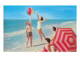 Playing with the Beach Ball Kunstdrucke