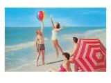 Playing with the Beach Ball Kunstdrucke