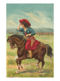 Colorful Cowgirl Poster