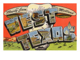 Howdy from Midland, West Texas Prints