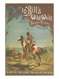 Buffalo Bill's Wild West Show Poster, Indian Brave Prints