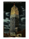 Night, Smith-Young Tower, San Antonio, Texas Posters