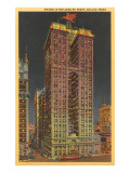 Night, Magnolia Building, Dallas, Texas Print